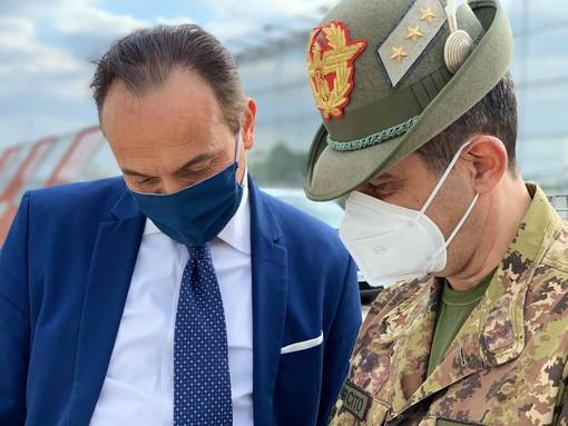 Il presidente Cirio con il generale Figliuolo