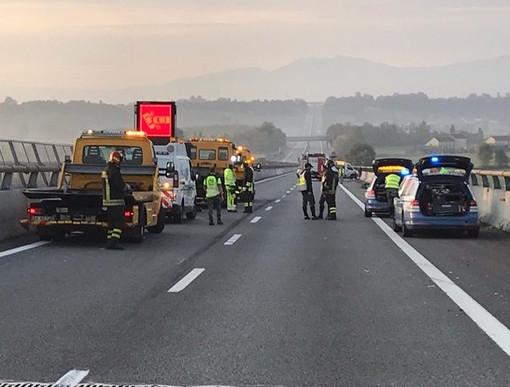 Due incidenti sulla Torino-Savona, chiusa A6 tra Marene e Carmagnola