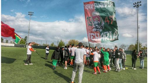 La città di Venaria invasa dall'ondata verde-arancio: il calcio torna in Promozione [VIDEO]