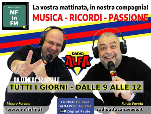 """Da lunedì 12 aprile """"mf in fm"""" sbarca su Radio Alfa"""