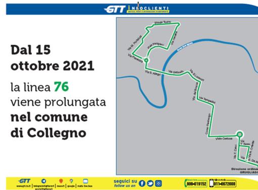 Collegno, la linea Gtt 76 prolunga il percorso fino a Collegno