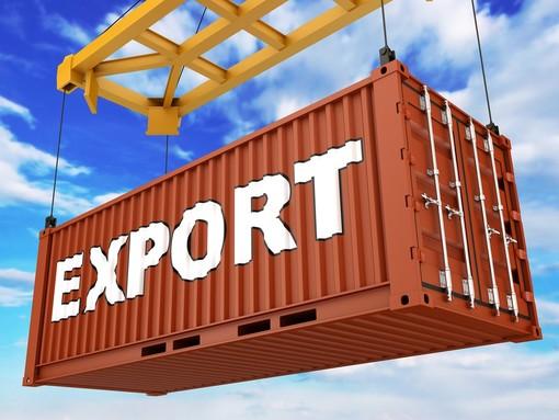cargo con scritta export in bianco