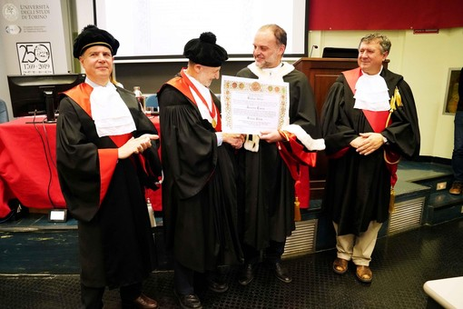 UniTo, laurea honoris causa a Emiliana Brocchi e Uriel Dan Kitron a Grugliasco
