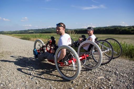 Danilo e Luca si allenano a Venaria, poi partiranno da Torino per attraversare lo stivale in handbike