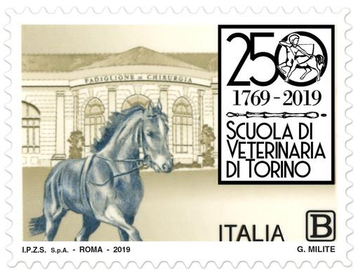 Poste Italiane, un francobollo per celebrare il 250° anniversario della Facoltà di Medicina Veterinaria