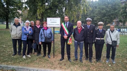 Celebrata la giornata per le vittime degli incidenti sul lavoro nel giardino di Grugliasco a loro dedicato [FOTO]