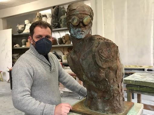 Lo scultore Gabriele Garbolino