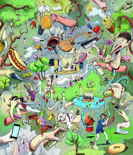 L'artista Donato Sansone per la nuova immagine del GruVillage 105 Music Festival