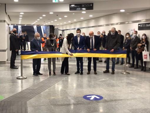 Inaugurazione stazione metro Bengasi e Italia 61