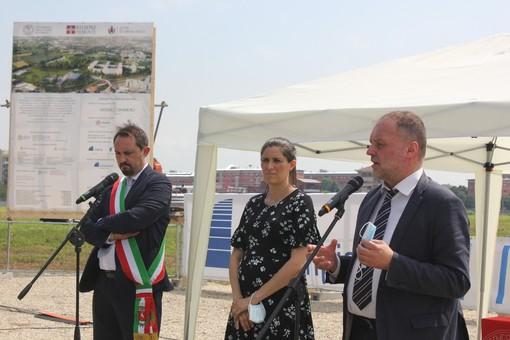Il sindaco Montà, la sindaca Appendino e il rettore Geuna