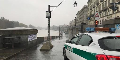 Maltempo, preoccupa l'innalzamento dei fiumi: chiusi i Murazzi e la linea ferroviaria Torino-Cirié [VIDEO]