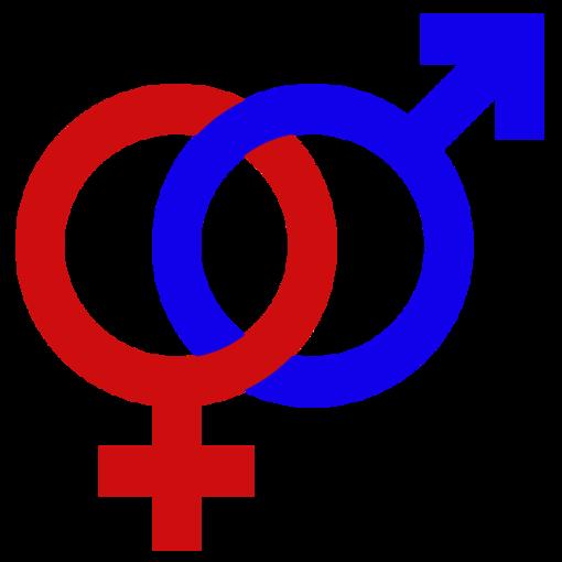 Simbolo di maschio e femmina gender