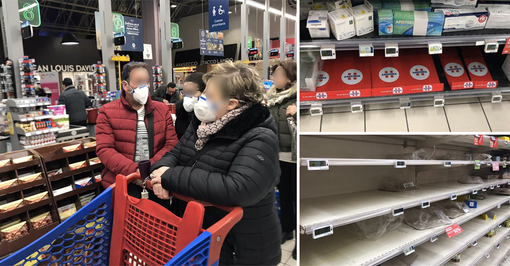 Coronavirus, a Torino supermercati presi d'assalto domenica sera. Stamattina situazione più tranquilla [FOTO]
