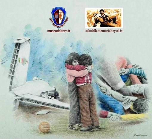"""Grugliasco, """"Uniti nel ricordo"""": Toro e Juve insieme sul taxi per non dimenticare le 70 vittime di Superga e dell'Heysel"""